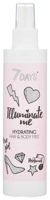 7DAYS Illuminate Me Увлажняющий мист для волос