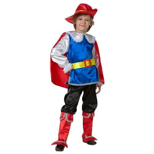 Купить Костюм Батик Кот в сапогах (7016), синий/красный, размер 128, Карнавальные костюмы
