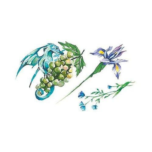 Polysfera Tattoo Авторская татуировка Tattoo PS&KG 0013 голубой/зеленый