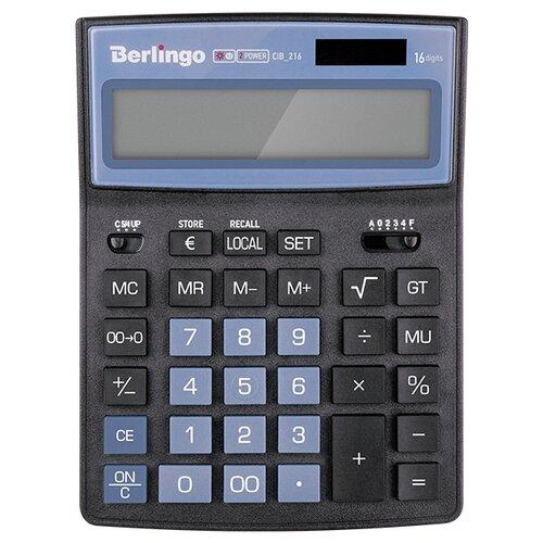 Купить Калькулятор бухгалтерский Berlingo City Style CIB_216 черный/голубой