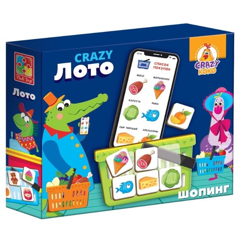 Настольная игра Vladi Toys CRAZY Лото платье vladi collection vladi collection mp002xw13lxg