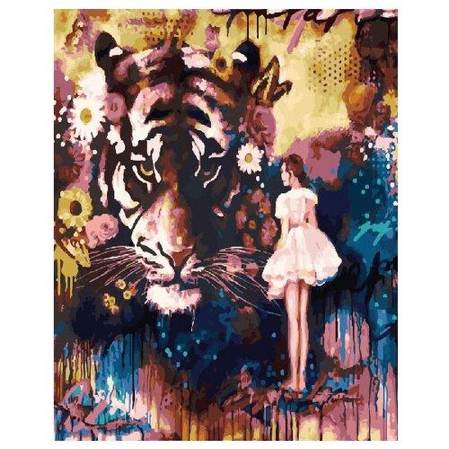 Фото - ВанГогВоМне Картина по номерам Девушка и тигр, 40х50 см (ZX 21182) картина по номерам 30 x 40 см krym fn11