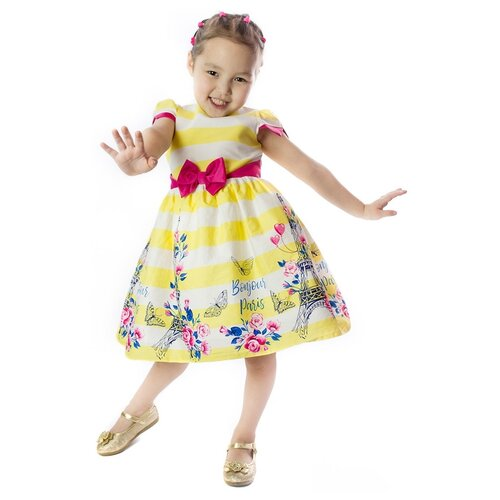 Купить Платье Khmeleva размер 98, желтый, Платья и сарафаны