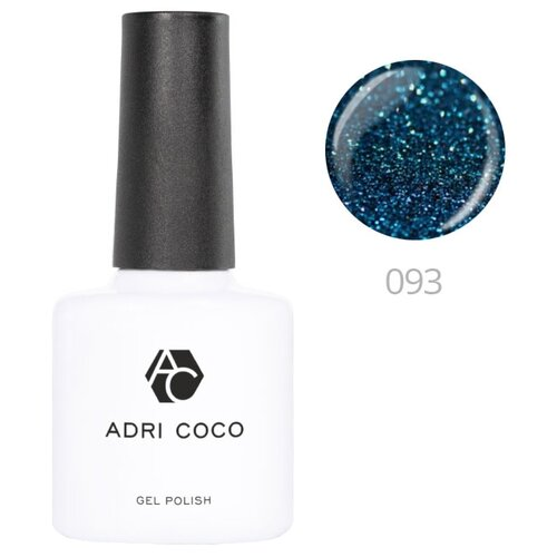 Гель-лак для ногтей ADRICOCO Gel Polish, 8 мл, 093 мерцающий морской синий