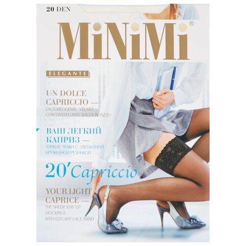 цена Чулки MiNiMi Capriccio 20 den, размер 2-S/M, bianco (белый) онлайн в 2017 году