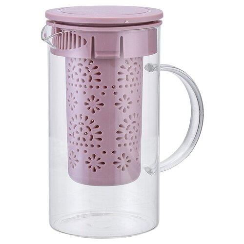 AK-5520/5 Заварочный чайник 1000 мл бежево-розовый