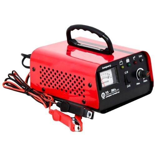 Зарядное устройство КАЛИБР УЗ-20А красный зарядное устройство калибр уз 10а
