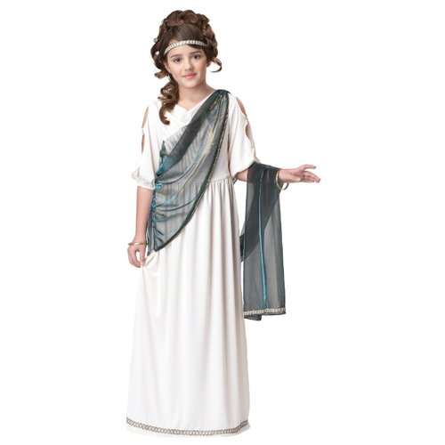 Купить Костюм California Costumes Римская принцесса 00347, белый/зеленый, размер XL (12-14 лет), Карнавальные костюмы