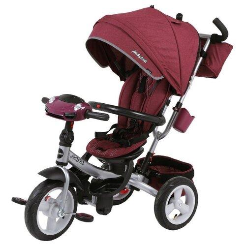 Купить Трехколесный велосипед Moby Kids New 360° 12x10 AIR Car бордовый, Трехколесные велосипеды