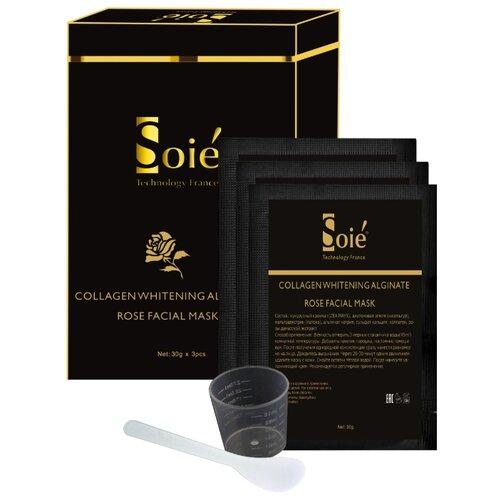 Купить SOIE Осветляющая альгинатная маска для лица с коллагеном и экстрактом розы, 30 г, 3 шт.