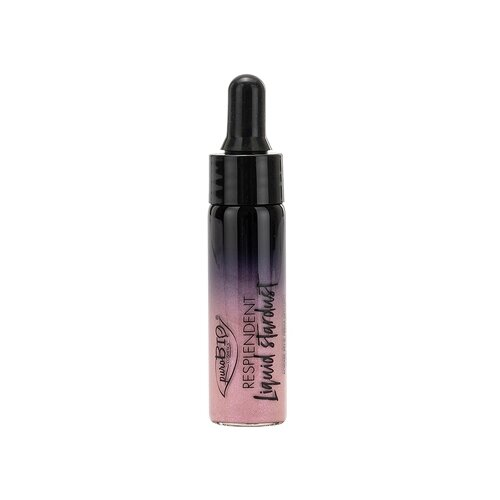 PuroBIO Хайлайтер жидкий Resplendent Liquid Stardust 03, холодный розовый
