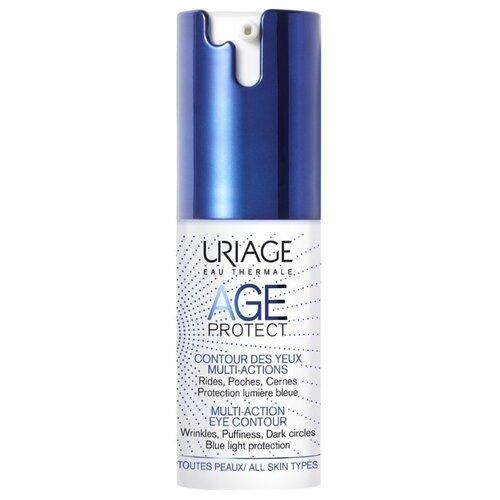 Крем Uriage Age Protect Multi-Action Eye Contour многофункциональный для кожи вокруг глаз 15 мл урьяж мицеллярная вода очищающая для кожи склонной к покраснению 250 мл uriage гигиена uriage
