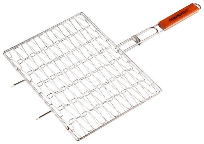 Решетка Пикничок Техасская 401-733 эластичная для барбекю, 40х30 см