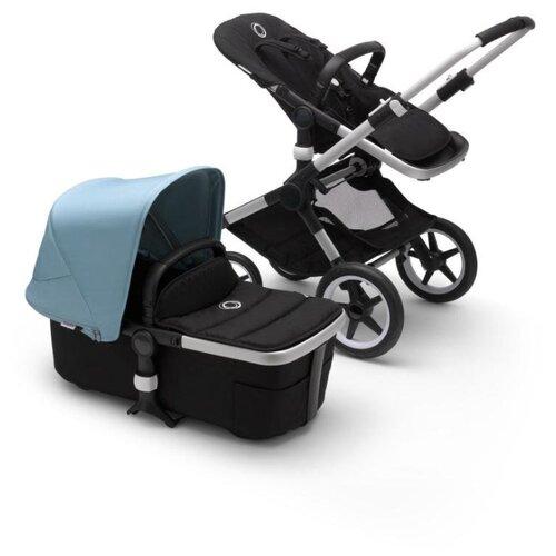 Купить Универсальная коляска Bugaboo Fox 2 complete (2 в 1) alu/black/vapor blue, цвет шасси: серебристый, Коляски