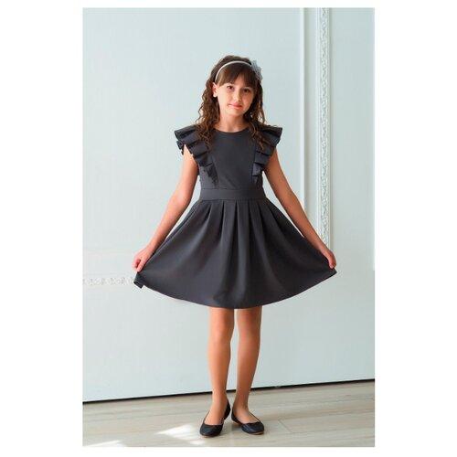 Купить Платье Ladetto 1С4 размер 30(2)-122, серый, Платья и сарафаны