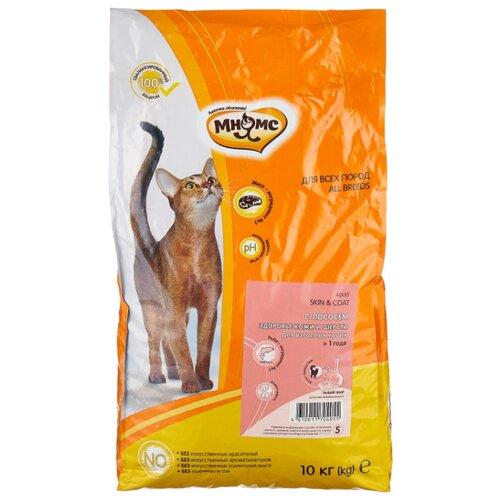 Корм для кошек Мнямс для здоровья кожи и шерсти, с лососем и с рисом 10 кг