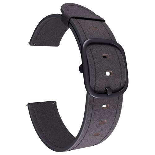 Lyambda Универсальный кожаный ремешок Minkar для часов 22 mm (DSP-03) black ремешок для часов lyambda для apple watch 42 44 mm minkar dsp 10 44 black