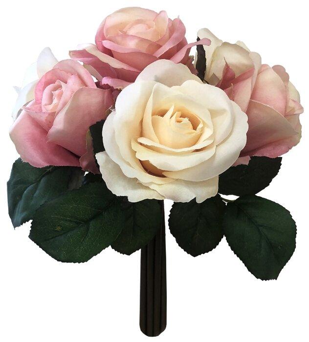 Home Philosophy букет из роз 24 см (FLS404) персиковый/розовый