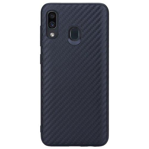 Чехол G-Case Carbon для Samsung Galaxy A20 SM-A205F/A30 SM-A305F черный чехол g case для samsung galaxy a30 sm a305f a20 sm a205f slim premium red gg 1101