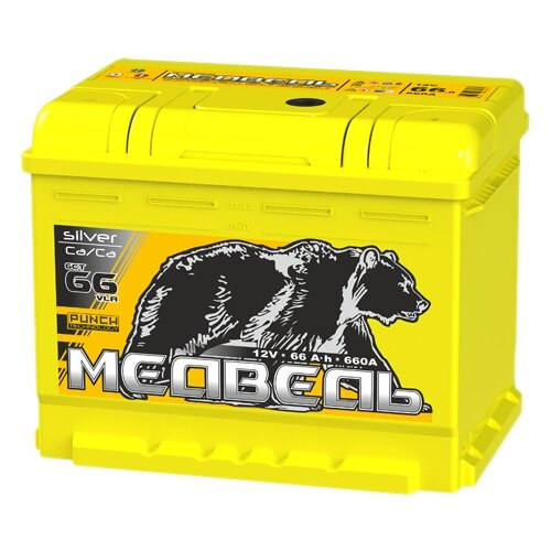 цена на Автомобильный аккумулятор Тюменский медведь 6СТ 66 VLA обратная полярность