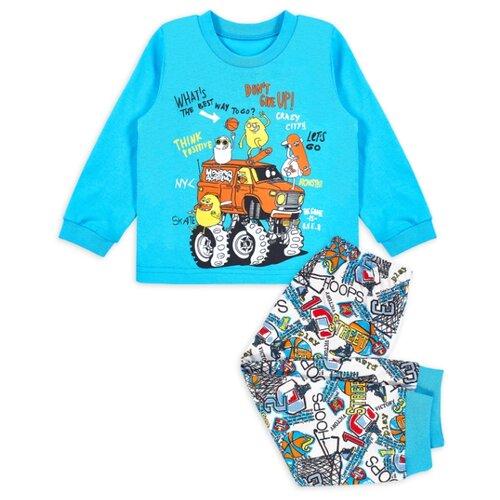 Фото - Пижама Веселый Малыш размер 92, голубой/белый пижама веселый малыш размер 92 серый синий