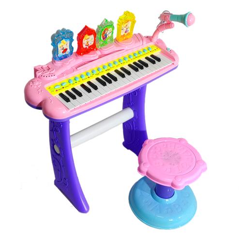 Купить Combuy пианино 2269-207 розовый, Детские музыкальные инструменты