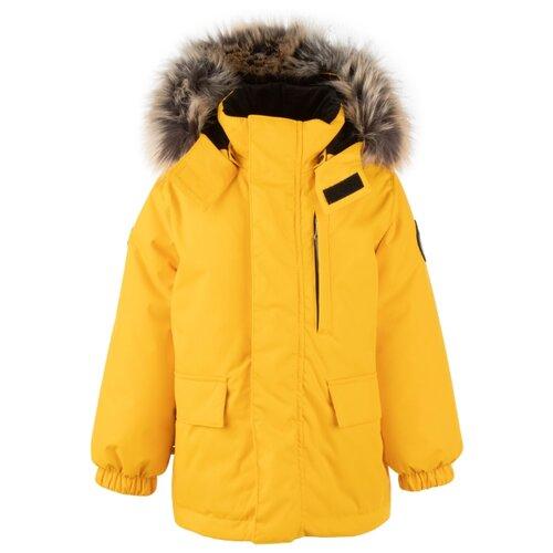 Купить Парка KERRY Snow K20441 размер 134, 109 желтый, Куртки и пуховики