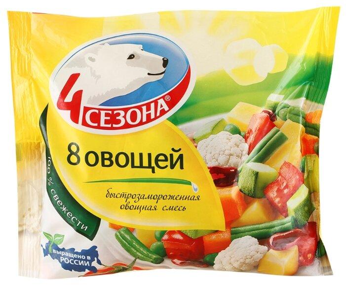 4 Сезона Замороженная овощная смесь 8 овощей 400 г