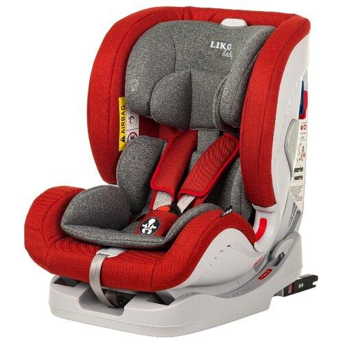 Автокресло группа 0/1/2/3 (до 36 кг) Liko Baby Sprinter Isofit (Isofix), красный в точку автокресло группа 1 2 3 9 36 кг little car ally с перфорацией черный