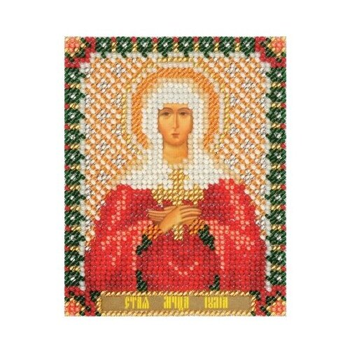 Купить PANNA Набор для вышивания бисером Икона Святой мученицы Юлии 8.5 х 10.5 см (CM-1432/ЦМ-1432), Наборы для вышивания