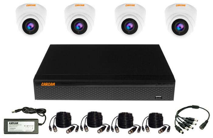 Готовый комплект видеонаблюдения CARCAM VIDEO KIT 5M-4 4 камеры