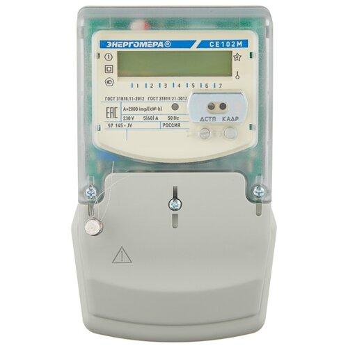 Фото - Счетчик электроэнергии однофазный многотарифный Энергомера CE 102M S7 145-JV 5(60) А счетчик электроэнергии однофазный многотарифный incotex меркурий 206 rn 5 60 а
