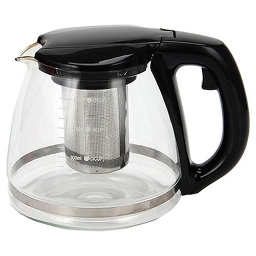 Vetta Чайник заварочный 850143 1.5 л прозрачный/черныйЗаварочные чайники<br>