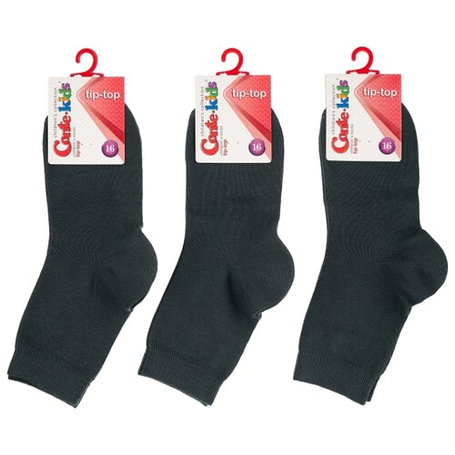Носки Conte-kids комплект 3 пары размер 16, темно-серый