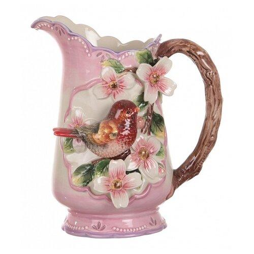 Кувшин Lefard Птица 59-472 1 л розовый/коричневый/зеленый/белый