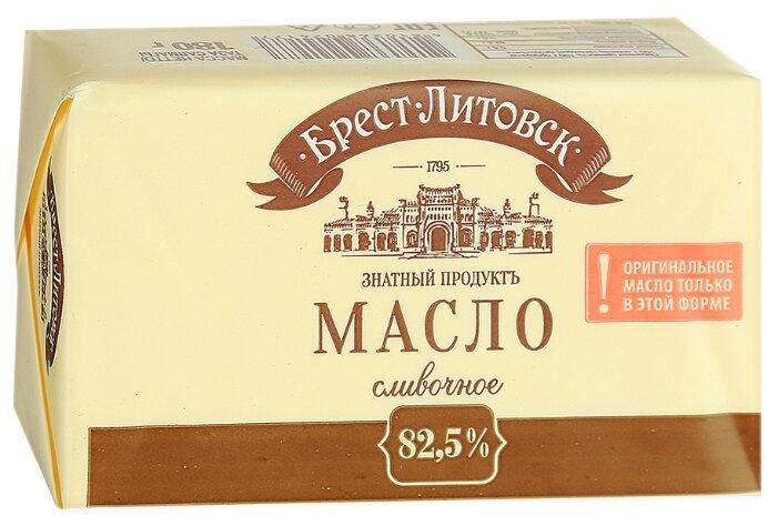 Брест-Литовск Масло сладко-сливочное несоленое 82.5%, 180 г