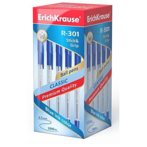 Купить ErichKrause Набор шариковых ручек R-301 Classic Stick&Grip, 1.0 мм, 50 шт. (39527/39528/43188), синий цвет чернил, Ручки