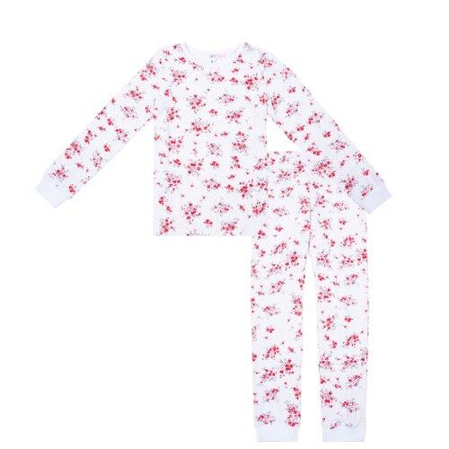 Купить Пижама playToday размер 122, белый/розовый, Домашняя одежда