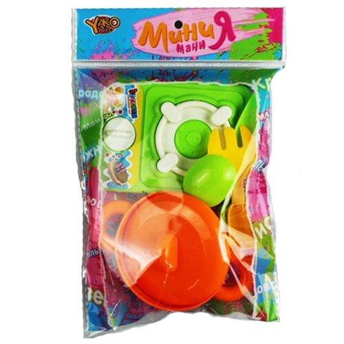 Купить Набор Yako Мини Мания М6725 оранжевый/зеленый, Детские кухни и бытовая техника