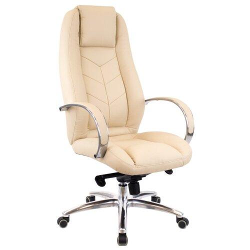 Фото - Компьютерное кресло Everprof Drift Full M для руководителя, обивка: искусственная кожа, цвет: бежевый компьютерное кресло everprof drift m для руководителя обивка натуральная кожа цвет коричневый