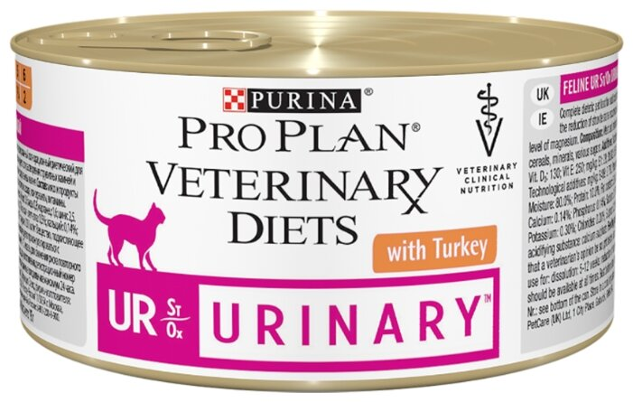 Корм для кошек Pro Plan Veterinary Diets Feline UR Urinary with Turkey canned (0.195 кг) 1 шт. — купить по выгодной цене на Яндекс.Маркете