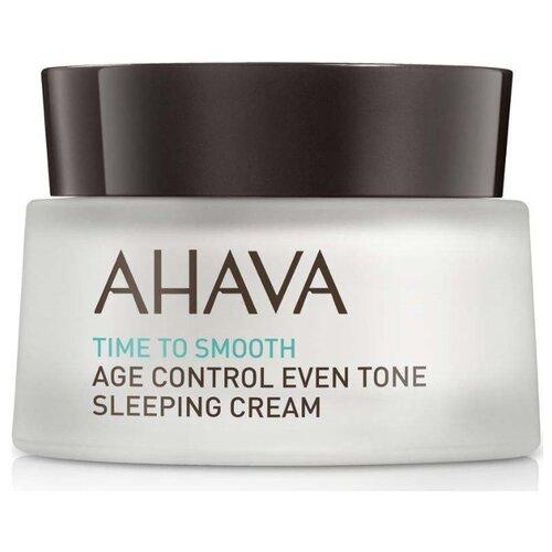 Крем AHAVA Time to Smooth Age Control Even Tone Sleeping Cream антивозрастной ночной для лица, шеи и декольте, 50 мл