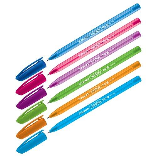 Фото - Luxor набор шариковых ручек InkGlide 100 Icy, 0,7 мм, 50 шт., синий цвет чернил luxor набор гелевых ручек tru gel цвет синий 3 шт