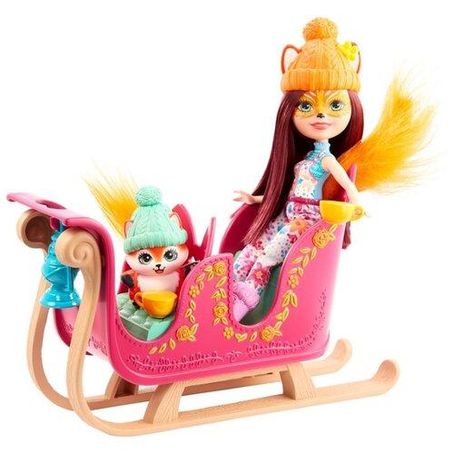Купить Игровой набор Enchantimals Рождественские сани, GJX31, Куклы и пупсы