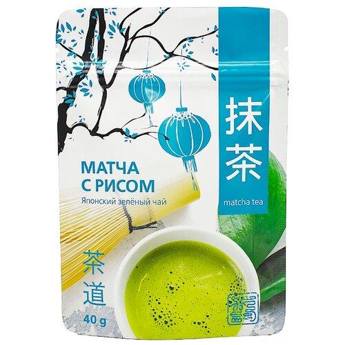 Чай зеленый 101 чай Матча с рисом, 40 г фото