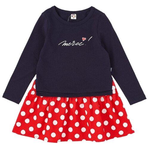 Платье Mini Maxi размер 110, красный/синий платье oodji ultra цвет красный белый 14001071 13 46148 4512s размер xs 42 170
