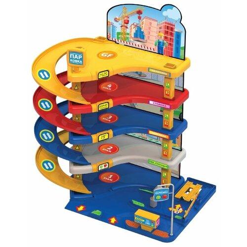 Купить Нордпласт Автопаркинг 2 красный/синий/желтый/белый, Детские парковки и гаражи