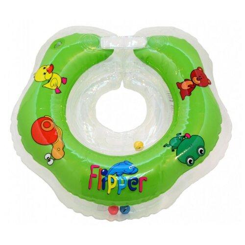Круг на шею для купания малышей Flipper (зеленый) недорого
