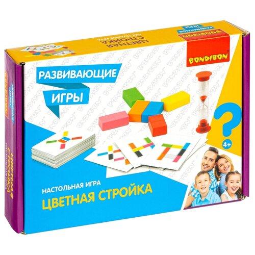 Купить Настольная игра BONDIBON Цветная стройка (ВВ4516), Настольные игры
