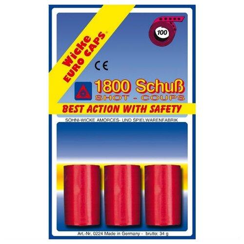 100-зарядные пистоны, 1800 шт, блистер упаковка-карта